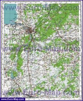 Топографическая карта Псковской области