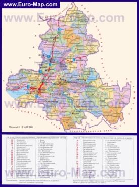 Административная карта районов Ростовской области