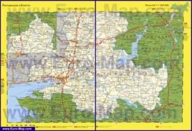 Автомобильная карта дорог Ростовской области