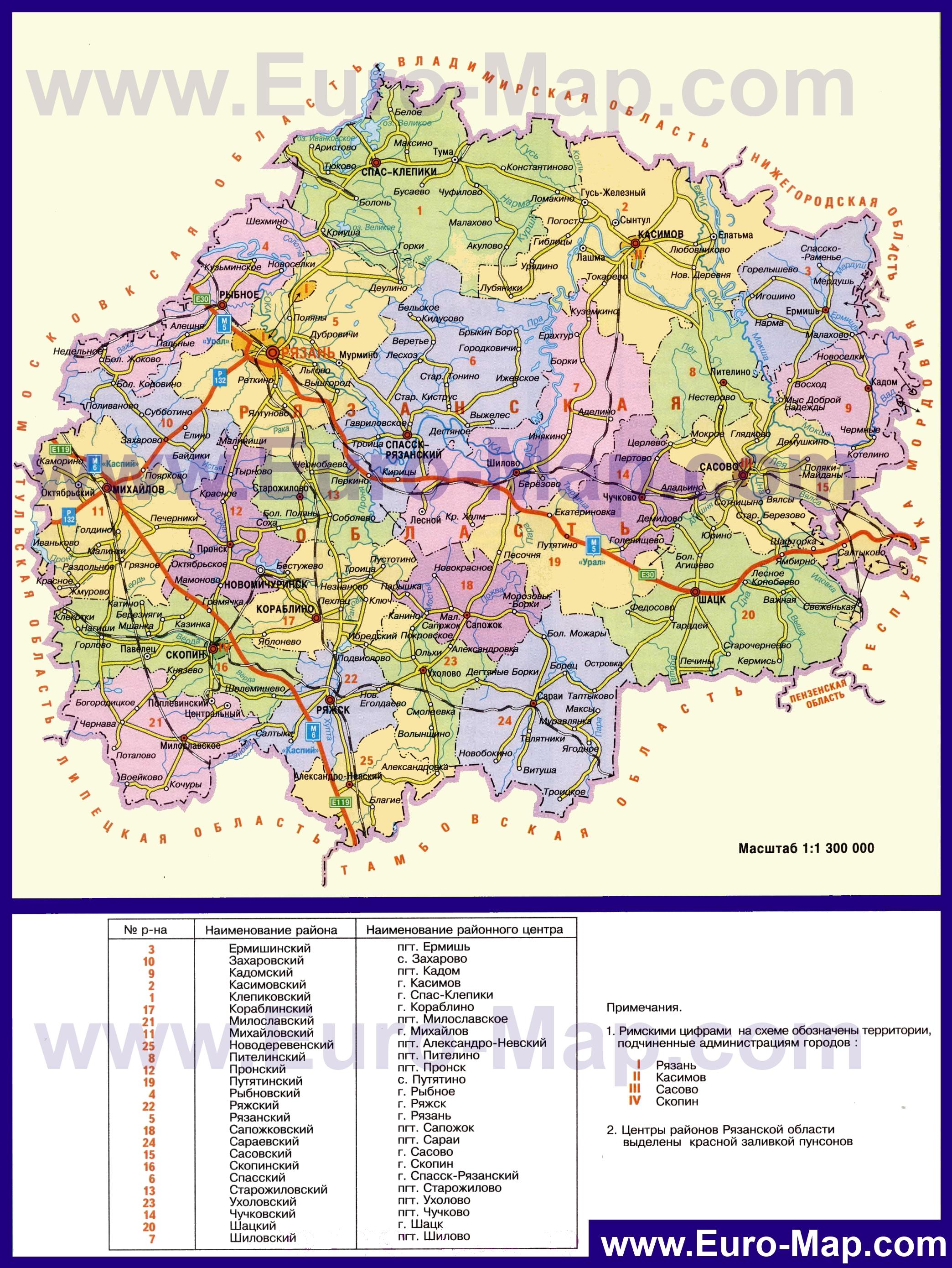 Карты автомобильных дорог России