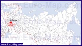 Рязанская область на карте России
