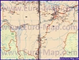Автомобильная карта дорог Якутии