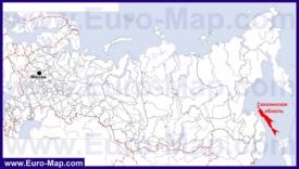 Сахалин на карте России