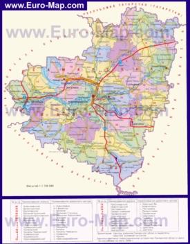 Административная карта районов Самарской области