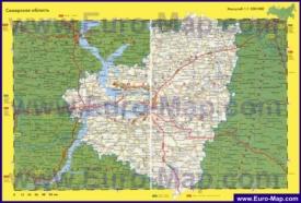 Автомобильная карта дорог Самарской области