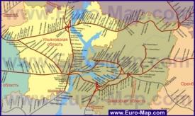 Карта железных дорог Самарской области