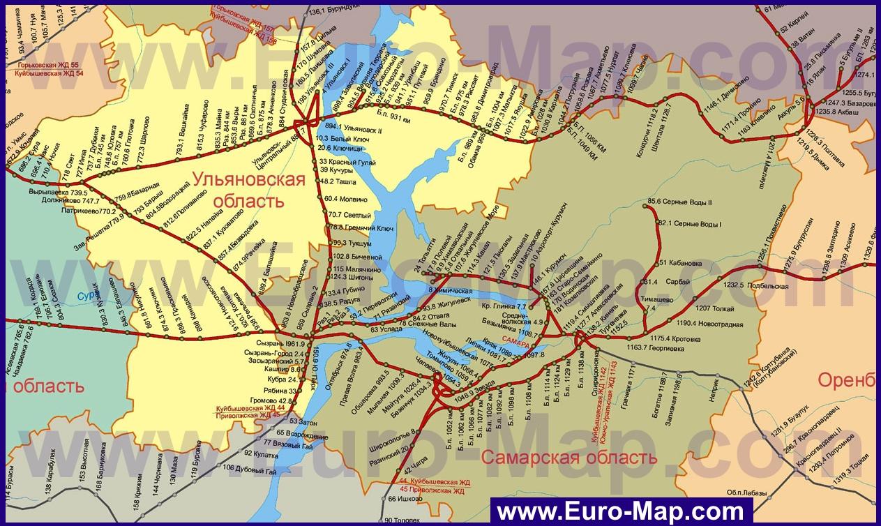 Карты Самарской области | Подробная карта Самарской ... Административная Карта Молдавии
