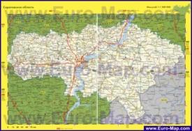 Автомобильная карта дорог Саратовской области