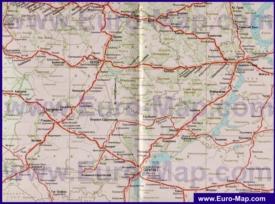 Карта железных дорог Саратовской области