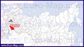 Саратовская область на карте России