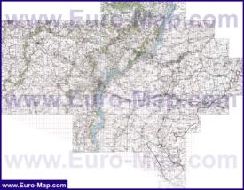 Топографическая карта Саратовской области