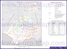 Административная карта районов Северной Осетии