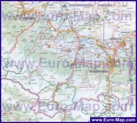Подробная карта Северной Осетии