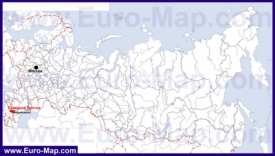 Северная Осетия на карте России