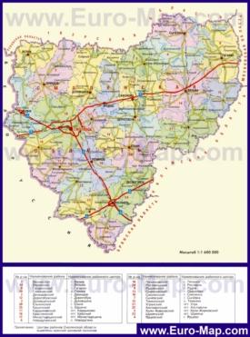 Административная карта районов Смоленской области