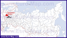 Смоленская область на карте России