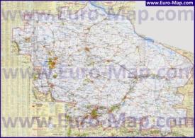 Подробная топографическая карта Ставропольского края с городами и селами
