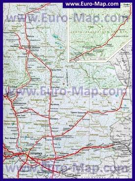Карта железных дорог Свердловской области