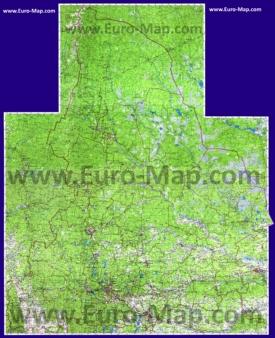 Подробная топографическая карта Свердловской области с деревнями и озерами