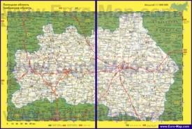Автомобильная карта дорог Тамбовской области