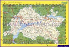 Автомобильная карта дорог Татарстана