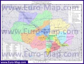 Административная карта районов Томской области