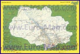 Автомобильная карта дорог Томской области
