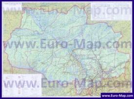 Подробная топографическая карта Томской области