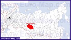 Томская область на карте России