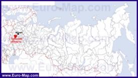 Тульская область на карте России
