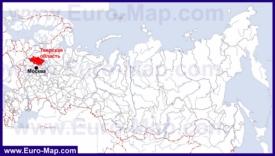Тверская область на карте России