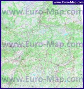 Подробная топографическая карта Тюменской области с городами и деревнями