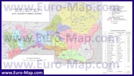 Административная карта районов Тывы