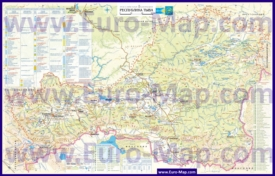Подробная туристическая карта Тывы с достопримечательностями