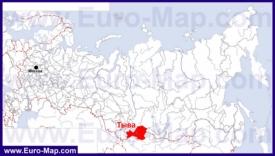 Тыва на карте России