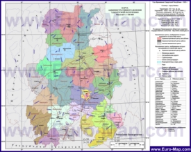 Административная карта районов Удмуртии