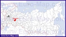 Удмуртия на карте России