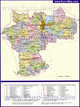 Административная карта районов Ульяновской области