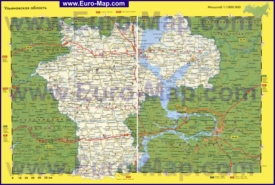 Автомобильная карта дорог Ульяновской области
