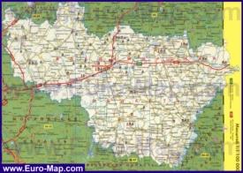 Автомобильная карта дорог Владимирской области