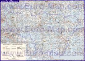 Подробная карта Владимирской области с городами