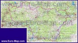 Топографическая карта Владимирской области