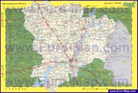 Автомобильная карта дорог Волгоградской области