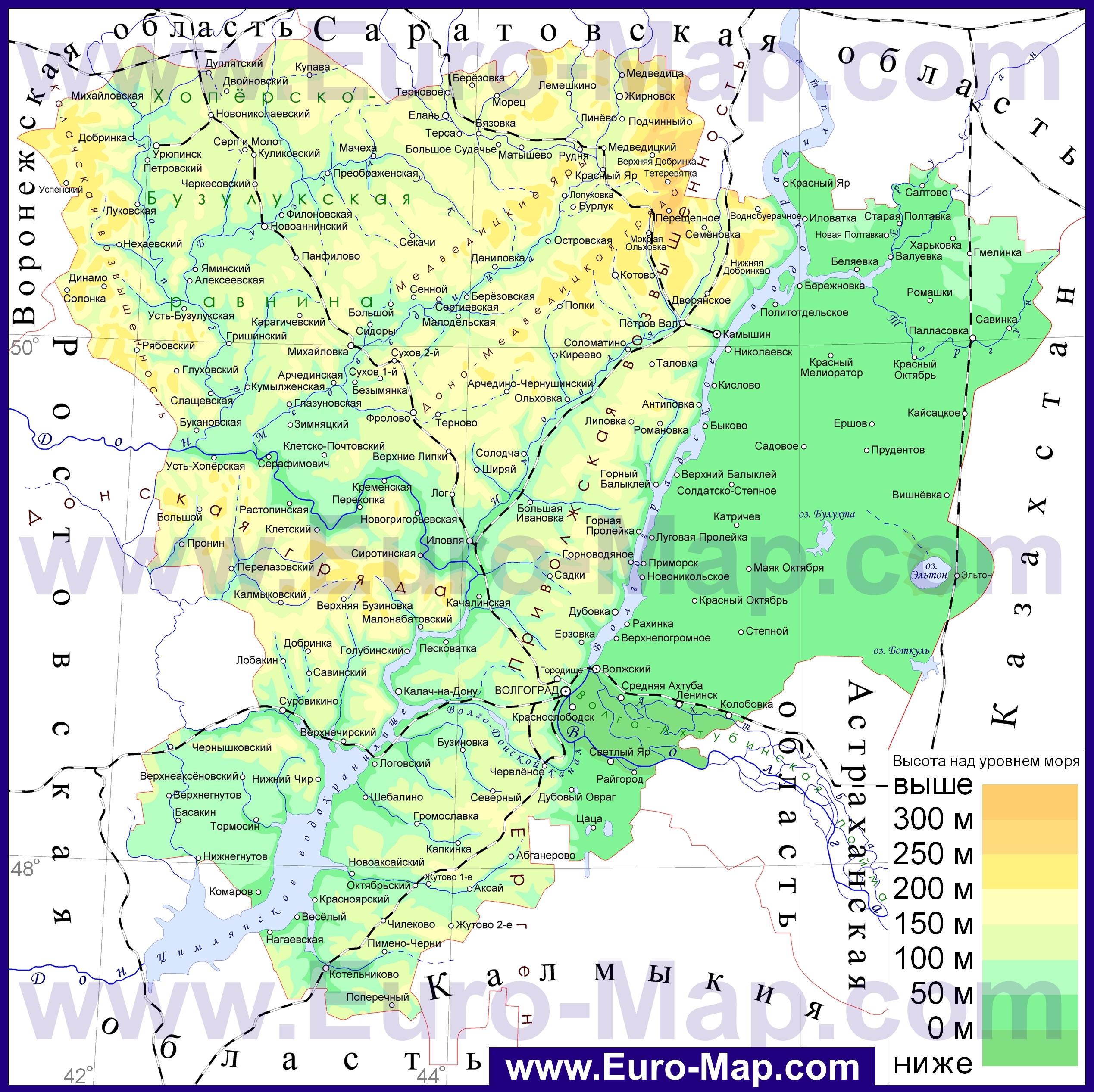 Карты Волгоградской области | Подробная карта ... Административная Карта Молдавии
