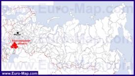 Волгоградская область на карте России