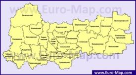 Административная карта районов Вологодской области
