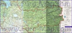 Подробная карта Вологодской области