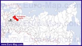 Вологодская область на карте России