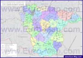 Административная карта районов Воронежской области