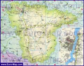 Карта железных дорог Воронежской области
